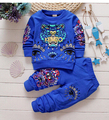 New 2016 spring children's suits baby male baby tiger head round neck sweater + pants 6M-2.5T Can open crotch pants hot sales