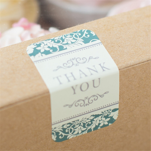 120pcs elegant thank you diy kraft paper sticker labels seal envelope packaging gift box wrapping soap