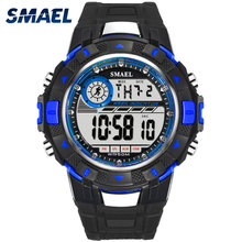 Smael Sports Watch Men Analog Digital Military Silicone Army Sport LED Waterproof Wrist Watches Men Relogio Masculino For Gifts все цены