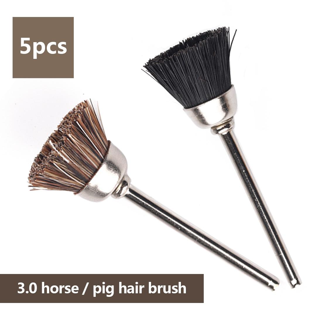Dremel Accessories 5pc 3mm Diameter Soft Pig /Horse Hair Polishing Cup Brush Wheel Metal Buffing Polishing For Drill Rotary Tool