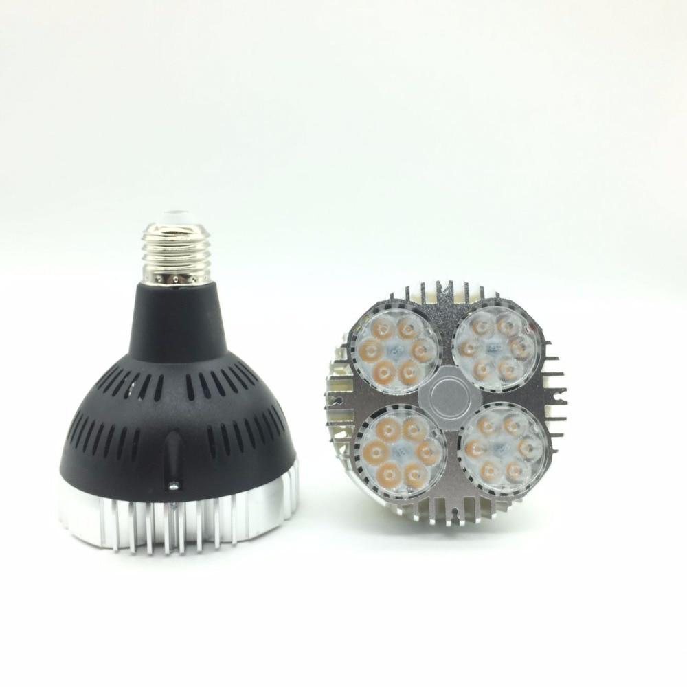 Ultra Bright Osram E27 PAR30 35W, 24 led spotlight bulb,led track light AC85-265V led e27 par30 lamp bulb 10pcs/lot ultra bright 35w e27 par30 led light bulb lamp ac 220v 230v led spotlight indoor track lighting free shipping