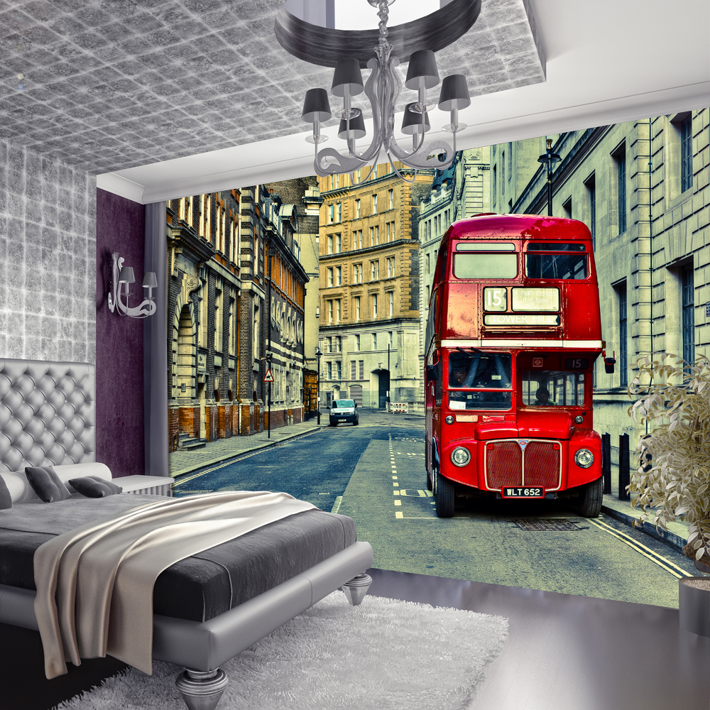 London bus wall mural wall murals wallpaper line picture more detailed about high quality london bus street photo wallpaper custom european wall mural amipublicfo Choice Image
