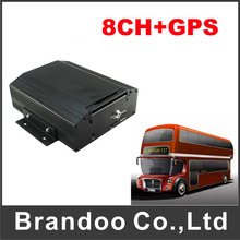 8CH GPS Mobile DVR supports HDD up to 2TB as well as SD Card up to 128GB for saving video files