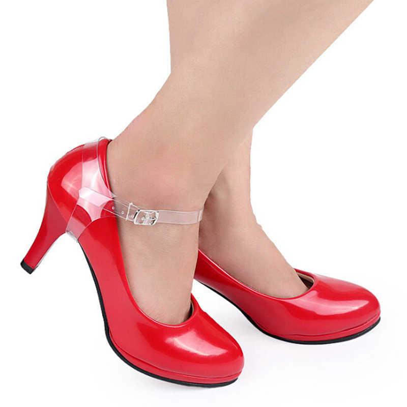 2 cặp/lô Thun Nhựa Dây Giày Cao Gót Quai Ngang Nữ Giày Nữ Giày Dây Thời Trang Vô Hình Chống rời Dây Đeo