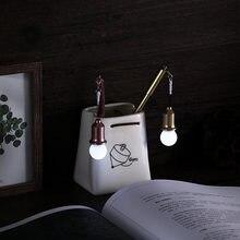 Twórcze światło żarówka długopis żelowy 0.38mm czarny długopis wtyczka pyłowa uczeń pióro neutralne akcesoria szkolne dostawcy biurowi pióro