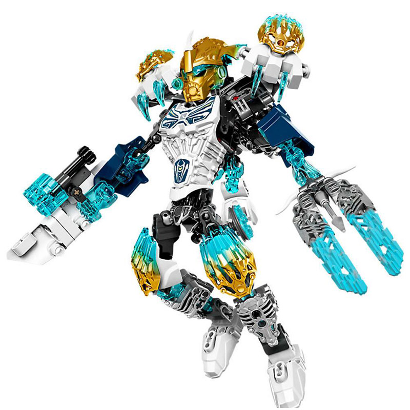 XSZ 612-1 Biochemical Warrior BionicleMask of Light Bionicle Kopaka Melum Building Block Compatible With Legoings Bionicle a toy a dream new bionicle mask of light xsz 708 serieschildren s kopaka monster of ice bionicle building block toys