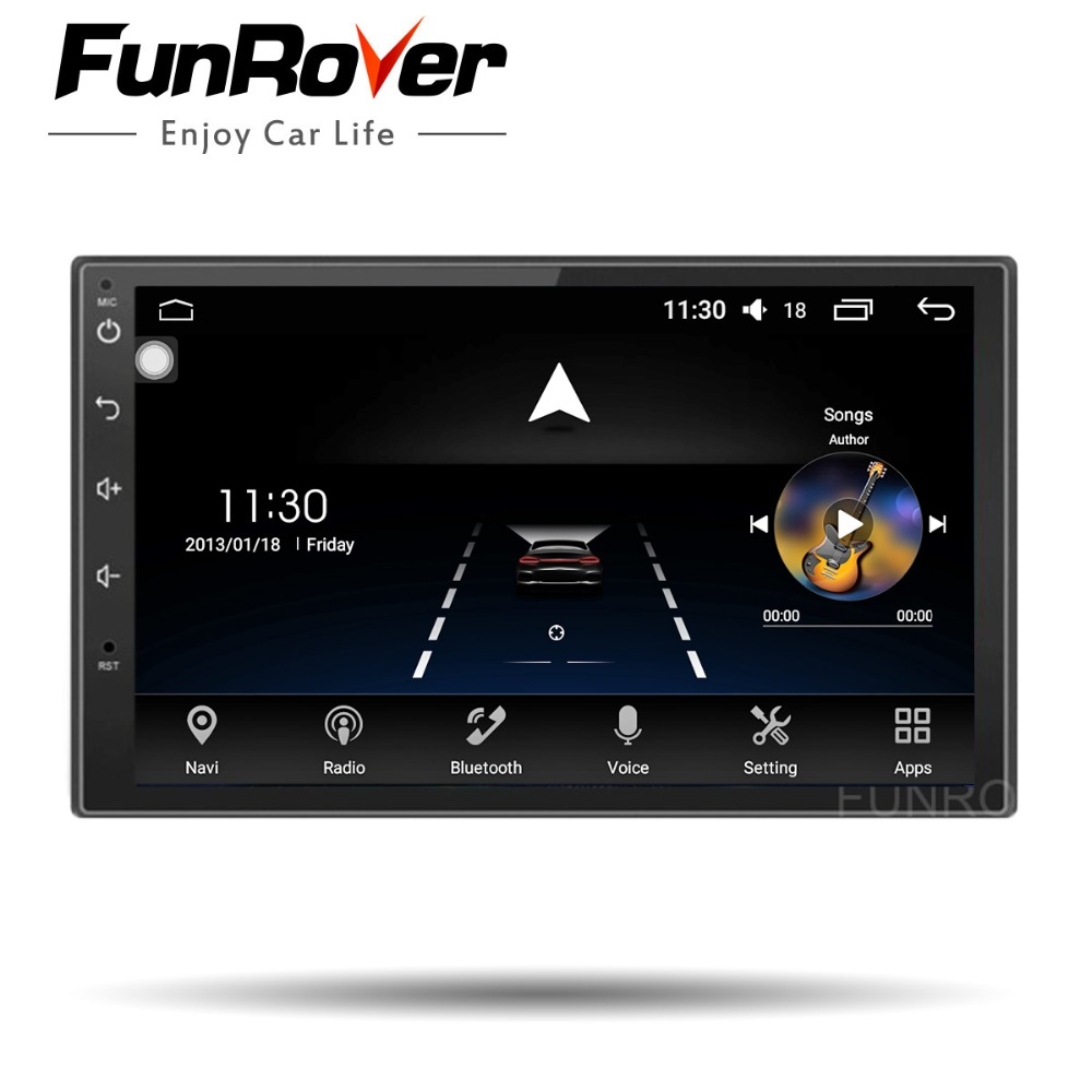 Funrover 8 Core android 8.0 car dvd for 2 din universal multimedia car gps navigation player steering wheel control wifi rds BT 3 10x42 red laser m9b tactical rifle scope red green mil dot reticle with side mounted red laser guaranteed 100%