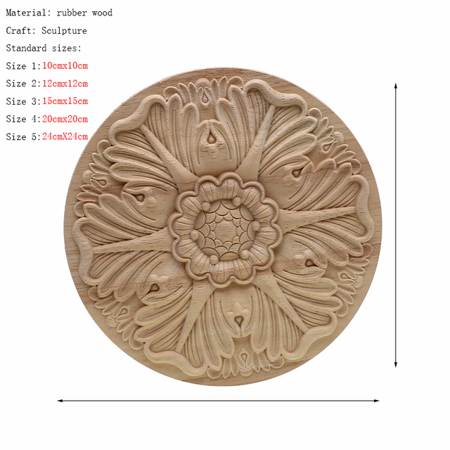 Frame Door Cabinet Decorative Figurines Wood Appliques for Furniture Unpainted Carved Corner Onlay Home Decoration Accessories 4