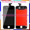 10pcs/lot Black White New For Iphone 4 4G 4S Phone Full LCD Screen Display Digitizer With Touch Screen Complete Assembly + Frame