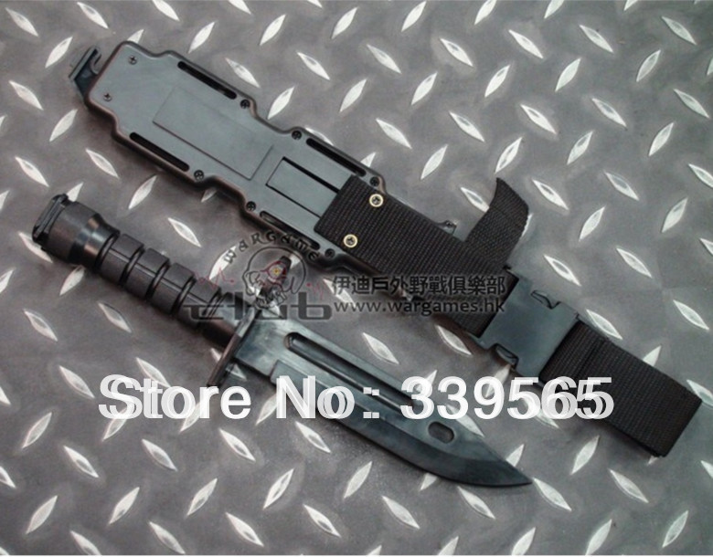 Us army <font><b>M9</b></font> soft plastic <font><b>knife</b></font> model decoration soft <font><b>knife</b></font> Fit for M-16 cosplay props toy <font><b>knife</b></font> model scabbard Free shipping image