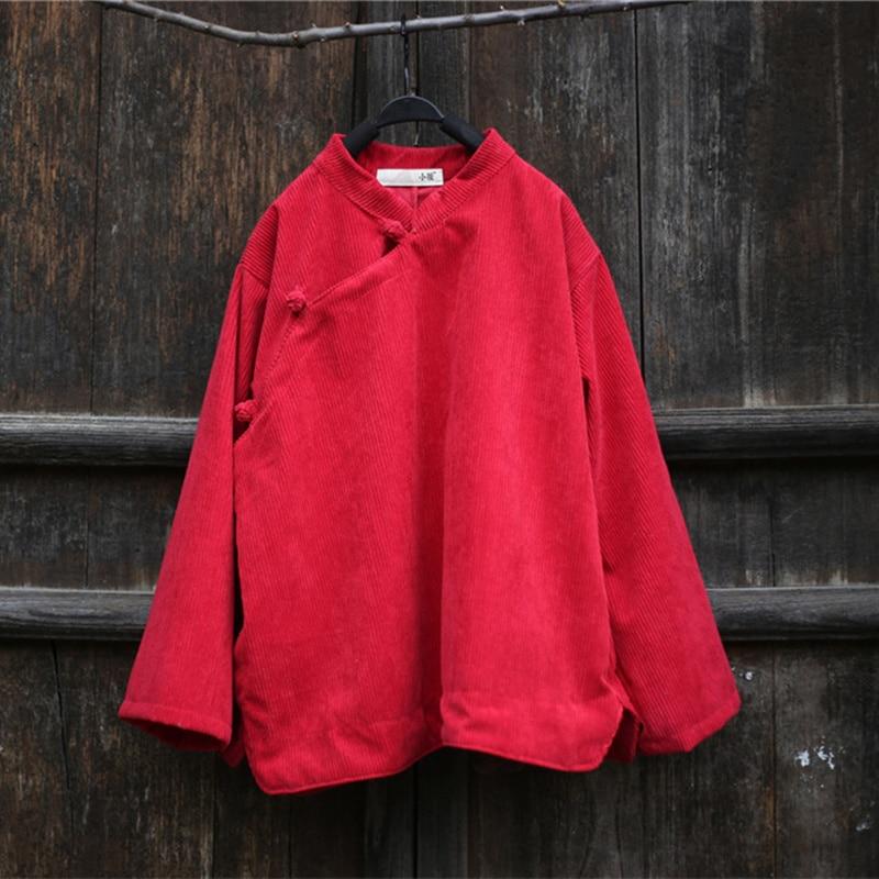 Femmes Unie Outwear Couleur Chemises Printemps red Bouton Black Manteaux Femelle Blouse A72403 Irrégularité Vintage Velours gray Lâche Automne fE8rwqf