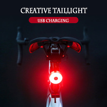 Bicycle taillights USB charging road bike night riding warning lights mountain equipment bicycle accessor