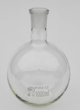 free shipping 1000ml Boiling Flask 24# Joint ROUND Bottom Lab Glassware 500ml 40 24 2 joint 3 neck round bottom straight necks flask lab glassware