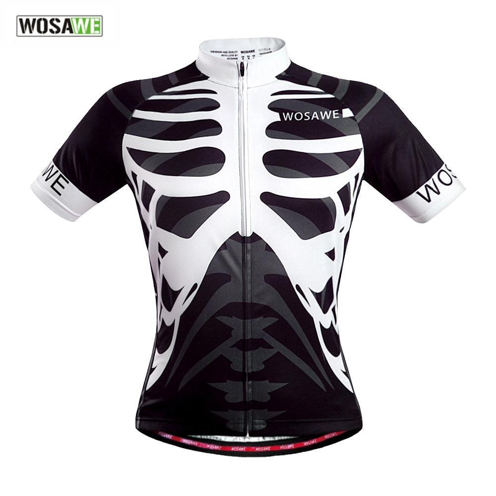 Shirt design china - Wosawe 2017 Professional Design Short Sleeves Cycling Jerseys Quick Dry Outdoor Sports Bicycle Shirts Cycling