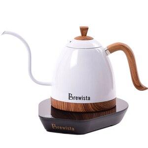 Image 2 - 220 v elektryczny dzbanek do kawy grzywny usta napar dzbanek do kawy wlać kawy czajnik do herbaty gęsiej szyi Pot600ml