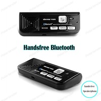 AUX Handsfree Bluetooth car sun visor with USB car charger Bluetooth Multipoint Speakerphone MP3 Music Player black