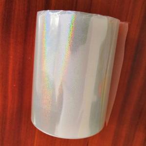 Image 4 - Bộ 2 cuộn Trong Suốt toàn Phương Lá Nóng dập giấy báo nóng trên giấy hoặc nhựa 8cm x 120m nhiệt dập phim