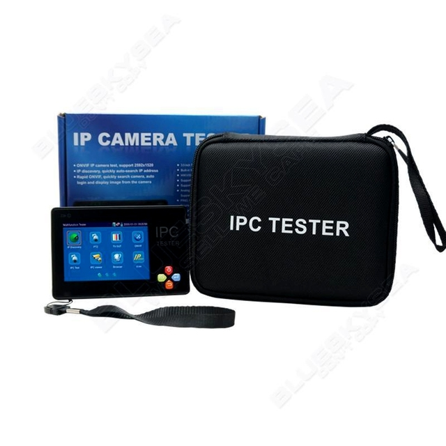"Free shipping!IPC-1600 Portable Wrist 3.5"" Touch LCD Screen IP Analog Network Camera Tester PTZ Control"