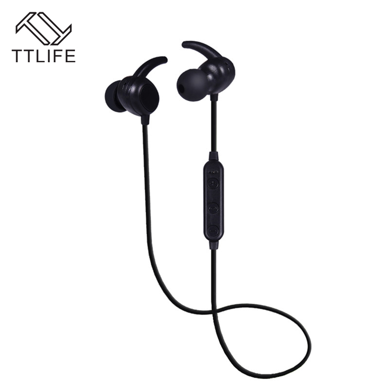 TTLIFE Sport Bluetooth 4.1 Earphone Wireless In-ear Headset stereo sound Earbud with Mic For Xiaomi Huawei Android Smartphone em290 copper wire earphone in ear with mic clear 3d sound quality handsfree call for android ios smartphone oppo xiaomi mp3 pc