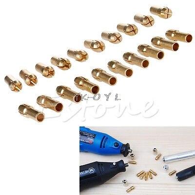 10pcs Drill Chucks Bits Brass Collet Mini Drill Chuck For Dremel Rotary Tool 4.3mm Dia 0.5mm-3.2mm Power Tool Accessory