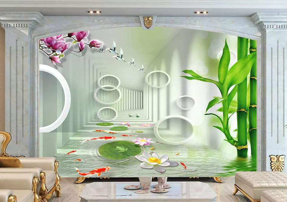 Details about  /Non woven Wall Mural Photo Wallpaper Poster Picture Image Orchid /& Bamboo