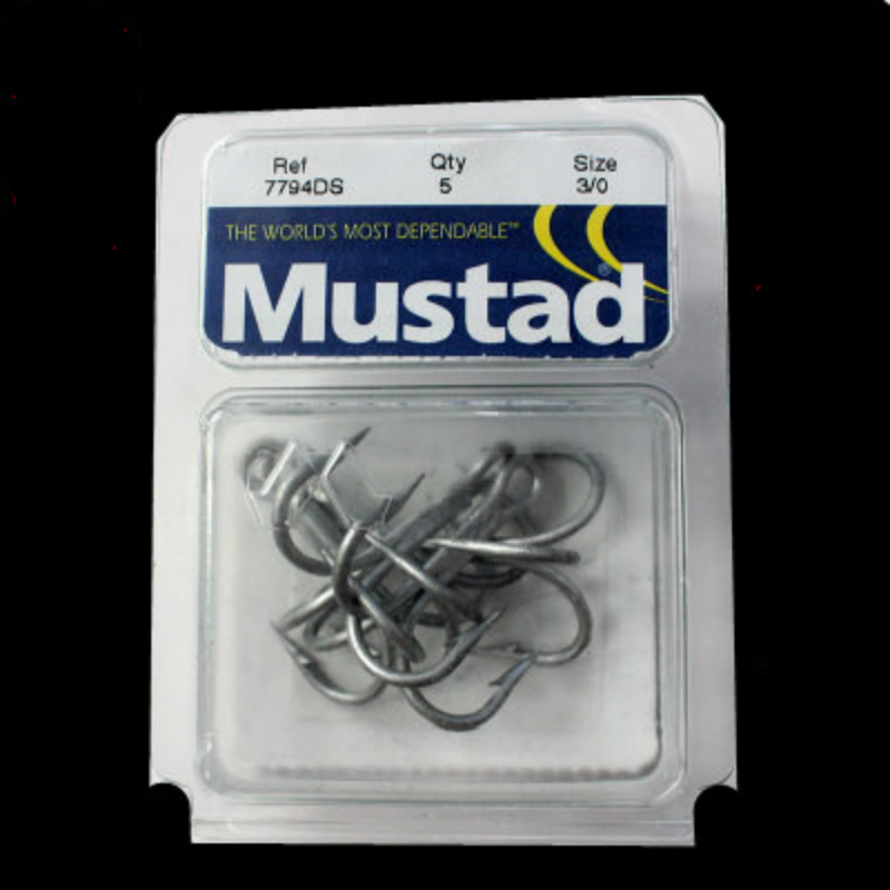 4packs/lot Mustad treble hooks sea fishing hooks 7794-ds # 3 x Bold 3 - Fishing