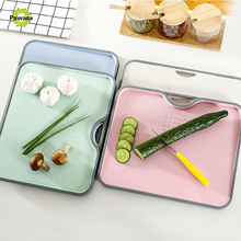 Creative Non-Slip Cutting Block Eco-Friendly Wheat Straw Chopping Kitchen Fruits Food Vegetable Board Accessories