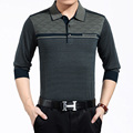 Mens Polo Shirt Striped Long Sleeve Knitted Pullover Male New 2016 Brand Casual Business Men Tops Slim Fit Polo Shirt For Men