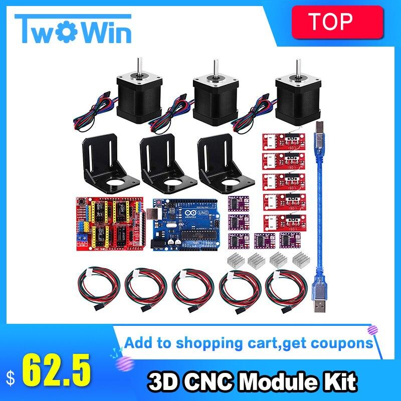 Professional 3d Printer CNC Kit UNO R3 Board RAMPS 1 4 Mechanical Switch Endstop DRV8825 Motor