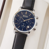 BOSS Men Wristwatch Clock Classic Business Mens Watches Top Brand Luxury with Leather