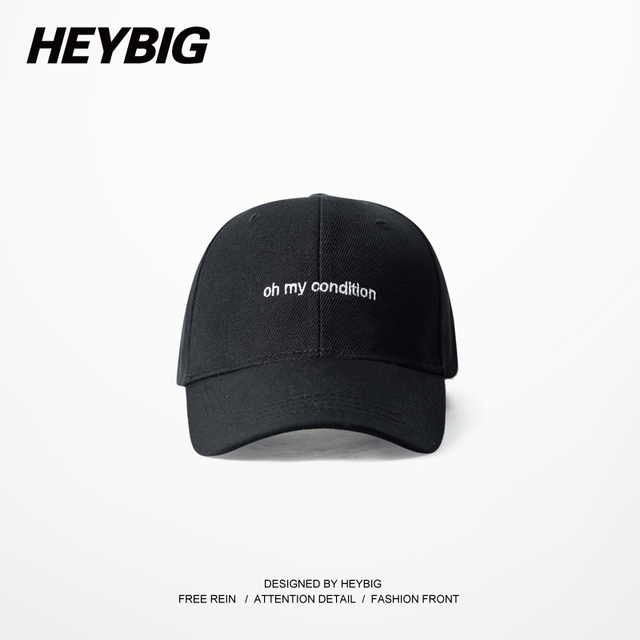Oh my condition Baseball caps HEYBIG snapback Hiphop Rap Hat FUNNY Dad cap Adjustable Hippest Young Streetwear 6 panels Gorras