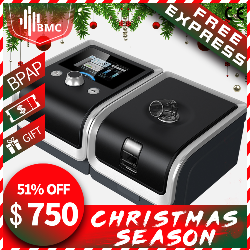 BMC GII BPAP T 25A 25T 30T Therapy Apnea COPD With Fingertip Pulse Oximeter Full Face