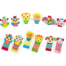 Foot-Socks Rattle-Toys Animal Baby Soft Kids 0--24-Months And Cartoon 30%Off