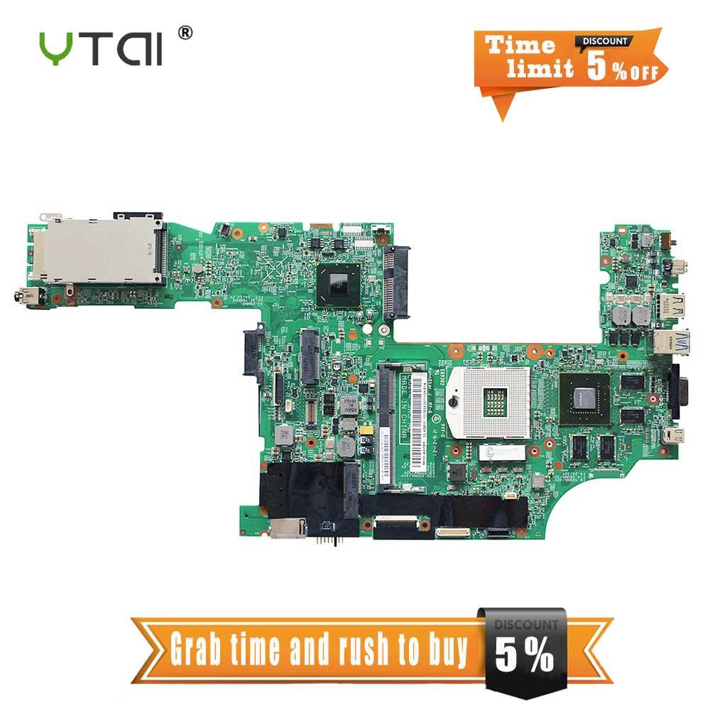YTAI T530 carte mère pour Lenovo ThinkPad T530 carte mère d'ordinateur portable 48.4QE19.031 SLJ8A QM77 1G PGA98 carte mère entièrement testée