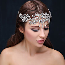 Nupcial Tiaras de Cabelo acessorios joias de Casamento das mulheres de Cristal de cristal Tiaras E Coroas Cabeca Cadeia