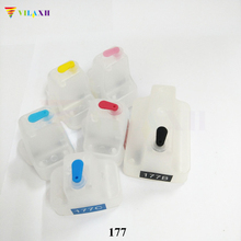 For HP 177 Refillable Ink Cartridgefor HP Photosmart 3210 3210v 3210xi 3213 3308 3310 3313 8230 8238 8250 8253 C5140 C5150 C5180 hp c8719he 177xl black для photosmart 8253 3213 3313
