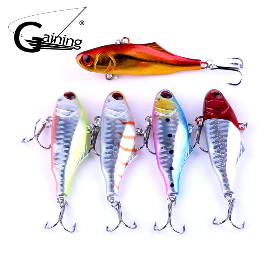 5pcs/lot 9cm 23.6g Sinking Vibration Fishing Lure Hard Plastic Artificial VIB Winter Ice Fishing Pike Bait Tackle Isca Peche