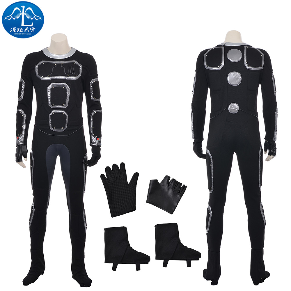 ManLuYunXiao Cosplay Costume Human Torch Jonathan Storm Cosplay Fantastic Four Cosplay Men's Jumpsuit Free Shipping
