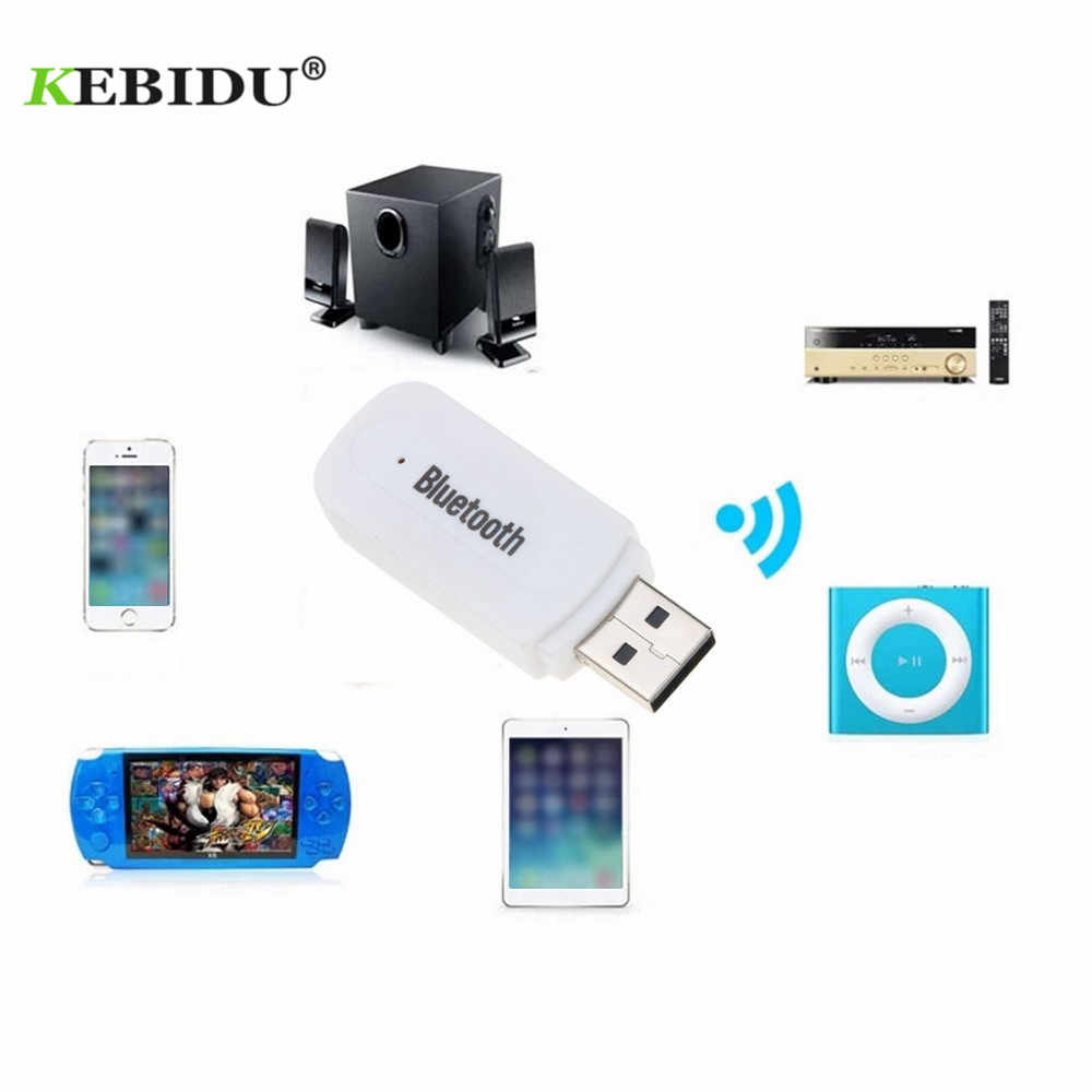 kebidu Bluetooth Receiver A2DP Dongle Stereo Music Audio Wireless USB Adapter for Car AUX Android/IOS Mobile Phone 3.5mm Jack