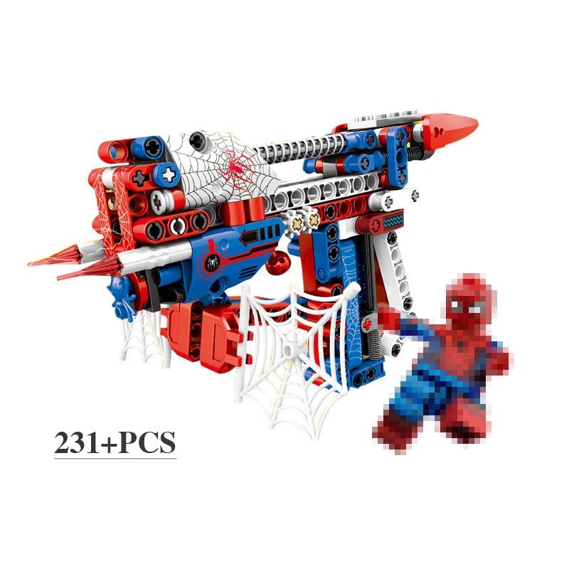 DIY Technologie Bausteine Spielzeug Pistole Montage Spielzeug Gehirn Schießen Spiel Modell Können Feuer Kugeln mit Anweisung Buch Kompatibel