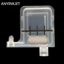 transparent big damper DX5 with square type head for Epson Mutoh Wit Color  Infinity Xenons printer plotter