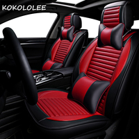 kokololee pu Leather car seat cover For Fiat 500 Palio Weekend Siena Perla Idea Panda Albea Ducato punto car accessories styling