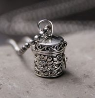 Thai silver wholesale S925 silver open gawu Box Pendant antique crafts Shurangama mantra blossoming