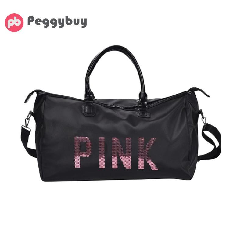 Sport Gym Handbag Women Fitness Nylon Waterproof Outdoor Yoga Shoulder Bag Lady Exercise Large Capacity Letter Printed Handbag