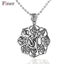 Vintage Antique Silver Color Large Hollow Carved Pendant Long Necklace Large Hollow Carved Necklaces For Women vintage solid color hollow out necklace for women