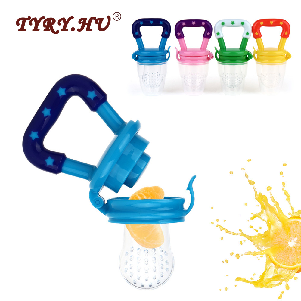 TYRY.HU 1Pc Food Grade Fruits Nipple Teether BPA Free Silicone Baby Teethers Pacifier Chain Pendant Safety Baby Teething Toys