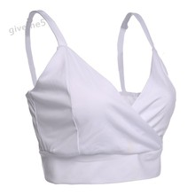 Quick Delivery Low cost Ladies Attractive Padded Bra Crop Tops Informal Vest Cross Bustier Seaside Tank Tops Camisole Plus Dimension White Black 29