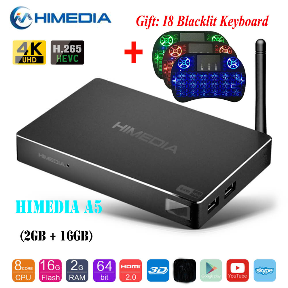 2+16GB DDR4 Android 7.1 S912 Octa Core Smart TV BOX 4K Network Media+Colorful H9