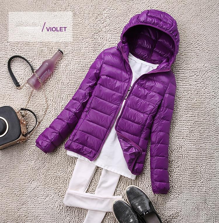 SEDUTMO Winter Plus Size 4XL Womens Down Jackets Short Ultra Light Duck Down Coat Hooded Puffer Jacket Autumn Parkas ED034 14