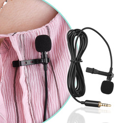 Andoer EY-510A Mini Portable Clip-on Lapel Lavalier Condenser Mic Wired Microphone for iPhone / Android Smartphone / DSLR Camera
